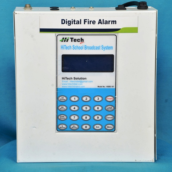 DIGITAL FIRE ALARM WITH AUDIO BROADCAST SYSTEM